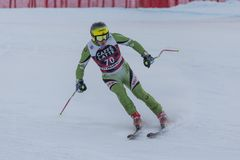 28 Δεκεμβρίου 2017 - Bormio Ιταλία - Παγκόσμιο Κύπελλο σκι Audi FIS Στοκ εικόνα με δικαίωμα ελεύθερης χρήσης