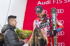 28 Δεκεμβρίου 2017 - Bormio Ιταλία - Παγκόσμιο Κύπελλο σκι Audi FIS Στοκ εικόνες με δικαίωμα ελεύθερης χρήσης