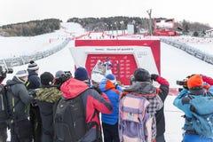 28 Δεκεμβρίου 2017 - Bormio Ιταλία - Παγκόσμιο Κύπελλο σκι Audi FIS Στοκ Φωτογραφία