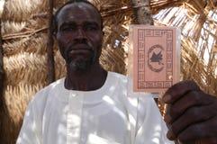 δελτίο τροφίμων καρτών darfur στοκ εικόνες