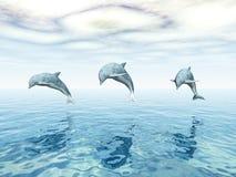 Δελφίνια άλματος απεικόνιση αποθεμάτων