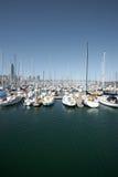 δεμένα λιμενικά sailboats SAN β Francisco Στοκ φωτογραφία με δικαίωμα ελεύθερης χρήσης