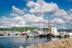 Δεμένα σκάφη στο λιμένα Ibiza στοκ εικόνες με δικαίωμα ελεύθερης χρήσης