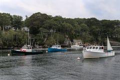 Δεμένες βάρκες αστακών στο νέο λιμάνι, Μαίην στοκ εικόνες με δικαίωμα ελεύθερης χρήσης