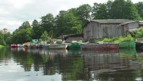 Δεμένη κίνηση καμερών αλιευτικών σκαφών φιλμ μικρού μήκους