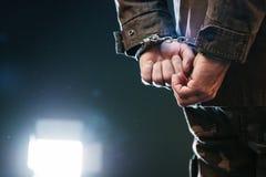 Δεμένος με χειροπέδες στρατιώτης Στοκ Φωτογραφία