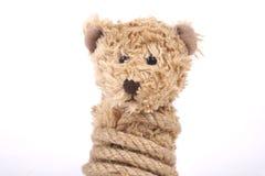 Δεμένος teddy αντέχει Στοκ φωτογραφίες με δικαίωμα ελεύθερης χρήσης
