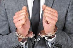 Δεμένο με χειροπέδες άτομο στοκ φωτογραφία με δικαίωμα ελεύθερης χρήσης