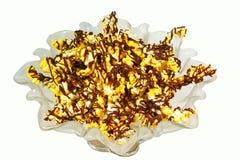 Δεμένο σοκολάτα Popcorn στοκ εικόνα