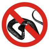 δεν επέτρεψε κανένα φίδι Στοκ Φωτογραφία