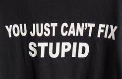Δεν μπορείτε να καθορίσετε ηλίθιο Στοκ Φωτογραφίες