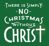Δεν υπάρχουν απλά κανένα Χριστούγεννο χωρίς Χριστό Διανυσματική απεικόνιση