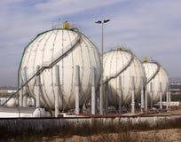 δεξαμενές αερίου Στοκ φωτογραφία με δικαίωμα ελεύθερης χρήσης