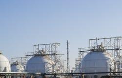 Δεξαμενές αποθήκευσης αερίου Στοκ εικόνα με δικαίωμα ελεύθερης χρήσης