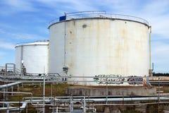 δεξαμενές πετρελαίου Στοκ εικόνες με δικαίωμα ελεύθερης χρήσης