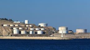 Δεξαμενές πετρελαίου Στοκ Φωτογραφίες