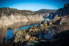 Δεξαμενές σε περιόδους της ξηρασίας Zamora Ισπανία Στοκ Εικόνες