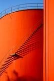 δεξαμενές χάλυβα σκαλο& Στοκ Εικόνες