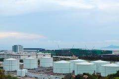 Δεξαμενή αερίου στην ημέρα Στοκ εικόνα με δικαίωμα ελεύθερης χρήσης