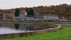 Δεξαμενή εργοστασίων επεξεργασίας νερού αποβλήτων απόθεμα βίντεο