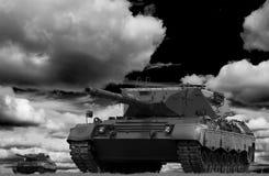 δεξαμενή μάχης Στοκ Φωτογραφία