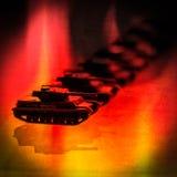 Δεξαμενή στις φλόγες Στοκ Εικόνα