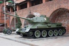 Δεξαμενή τ-34 ρωσική δεξαμενή του δεύτερου παγκόσμιου πολέμου Στοκ Εικόνες
