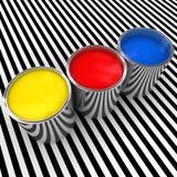 δεξαμενή χρωμάτων χρώματος απεικόνιση αποθεμάτων