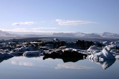 δεξαμενή χώνευσης παγετώνων Στοκ εικόνα με δικαίωμα ελεύθερης χρήσης