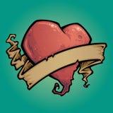 δερματοστιξία κορδελλών καρδιών στοκ φωτογραφία με δικαίωμα ελεύθερης χρήσης