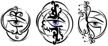 Δερματοστιξία ματιών διανυσματική απεικόνιση