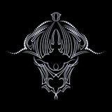 Δερματοστιξία του Bull Αντικείμενο που απομονώνεται στο μαύρο υπόβαθρο Εθνική εικόνα Στοκ φωτογραφίες με δικαίωμα ελεύθερης χρήσης