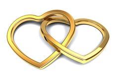 Δεσμευμένες καρδιές Στοκ Εικόνες