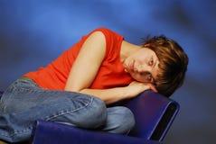 δεσποινίδα που κουράζεται στοκ φωτογραφία με δικαίωμα ελεύθερης χρήσης