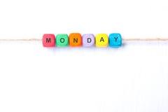 Δευτέρα λέξης σε ένα άσπρο υπόβαθρο Στοκ φωτογραφία με δικαίωμα ελεύθερης χρήσης