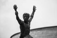 Δευτερεύον άγαλμα του αγάλματος ελευθερίας (άγαλμα ελευθερίας) της Βουδαπέστης, Ουγγαρία Στοκ φωτογραφία με δικαίωμα ελεύθερης χρήσης