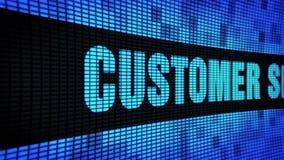 Δευτερεύον κείμενο εξυπηρετήσεων πελατών που τυλίγει τον πίνακα σημαδιών οθόνης τοίχων των οδηγήσεων φιλμ μικρού μήκους