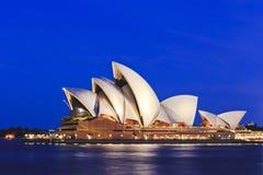 Δευτερεύον μπλε σύνολο οπερών του Σίδνεϊ Στοκ Εικόνα