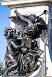 Δευτερεύον πορτρέτο των αγγέλων στο άγαλμα του μνημείου του Samuel de Champlain στοκ εικόνες