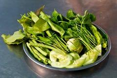 δευτερεύον ταϊλανδικό λαχανικό πιάτων Στοκ Εικόνες