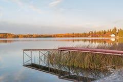 Δευτερεύουσα αποβάθρα λιμνών Στοκ Εικόνα