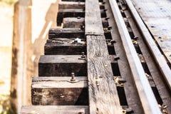 Δευτερεύουσα κινηματογράφηση σε πρώτο πλάνο σιδηροδρόμου στοκ φωτογραφίες με δικαίωμα ελεύθερης χρήσης