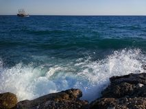 Δευτερεύουσα παραλία της Τουρκίας Antalya Manavgat Στοκ Εικόνα