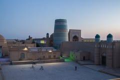 Δευτερεύων μιναρές Kalta Khiva - Ουζμπεκιστάν Στοκ Εικόνα