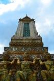 Δευτερεύων ναός Wat Arun Rajwararam ποταμών της Μπανγκόκ Στοκ Εικόνες