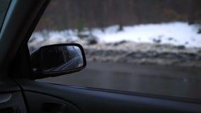 Δευτερεύων οπισθοσκόπος καθρέφτης ενός σύγχρονου αυτοκινήτου φιλμ μικρού μήκους