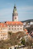 Δεύτερη άποψη πύργων Krumlov Cesky Στοκ φωτογραφία με δικαίωμα ελεύθερης χρήσης