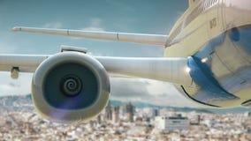 Δεύτερη έκδοση της Βαρκελώνης Ισπανία απογείωσης αεροπλάνων απόθεμα βίντεο