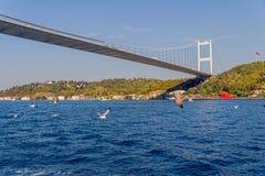 Δεύτερη γέφυρα της Ιστανμπούλ Στοκ Φωτογραφίες