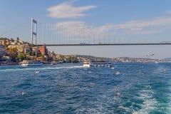 Δεύτερη γέφυρα της Ιστανμπούλ Στοκ φωτογραφία με δικαίωμα ελεύθερης χρήσης